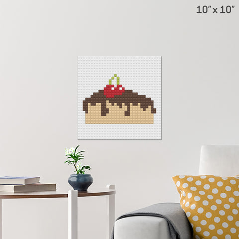 Chocolate Cake Brick Poster