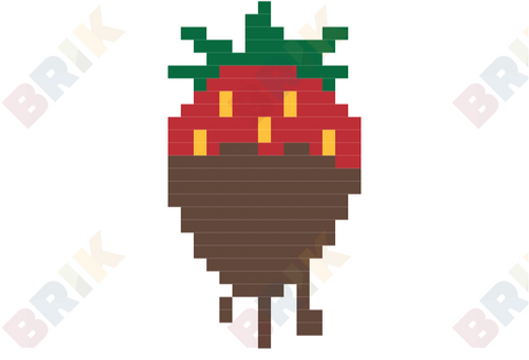 Chocolate Covered Strawberry Pixel Art