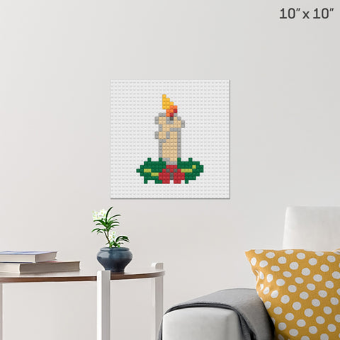 Christmas Candle Brick Poster