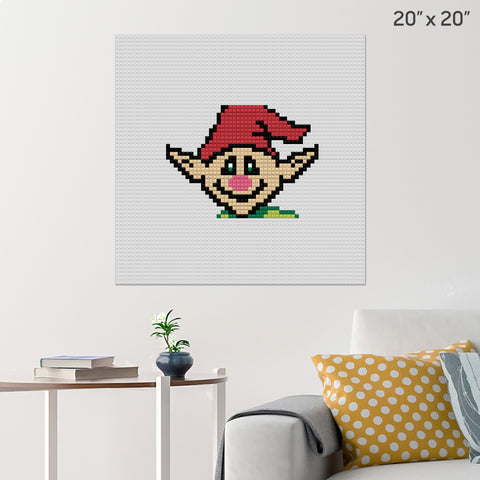 Christmas Elf Brick Poster