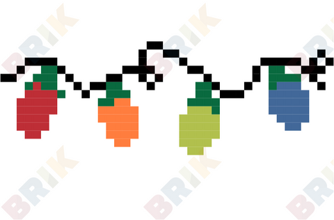 Christmas Lights Pixel Art