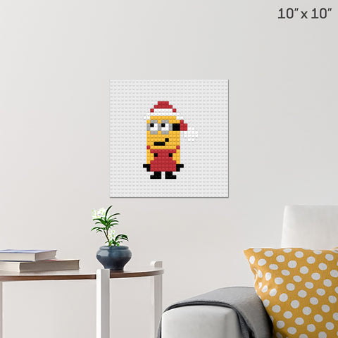 Christmas Minion Brick Poster