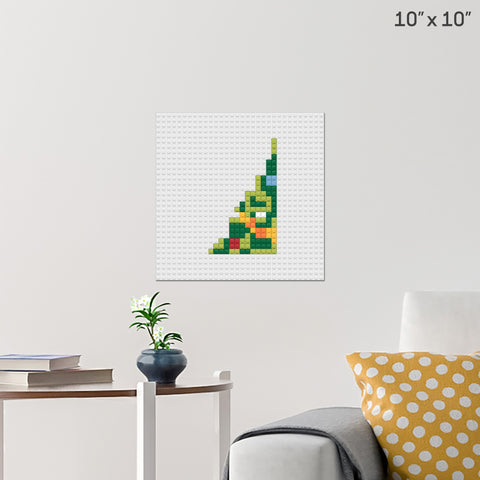 Christmas Tree Part 1 Brick Poster