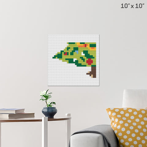 Christmas Tree Part 5 Brick Poster