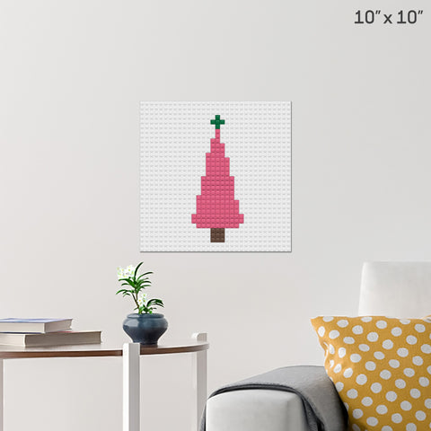 Christmas Tree Brick Poster
