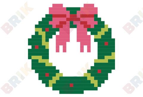 Christmas Wreaths Pixel Art
