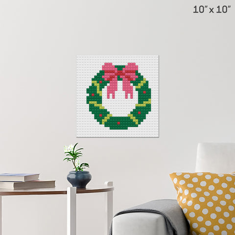 Christmas Wreaths Brick Poster