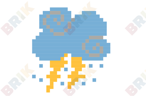 Cloud Pixel Art