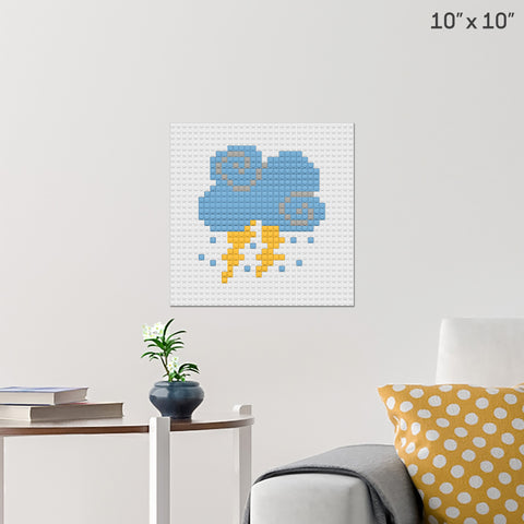 Cloud Brick Poster