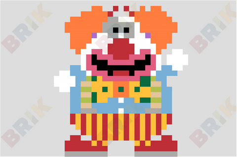 Clown Pixel Art
