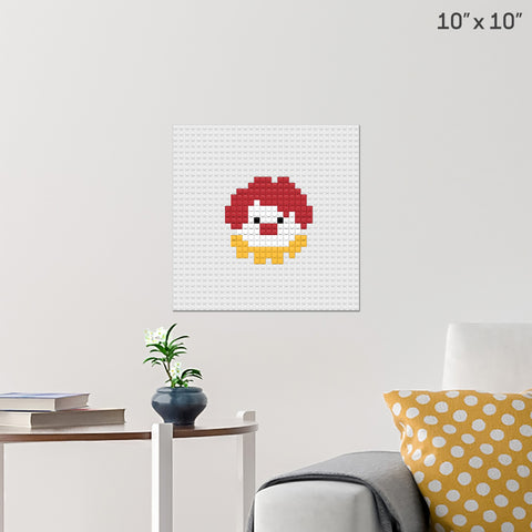 Clown Brick Poster