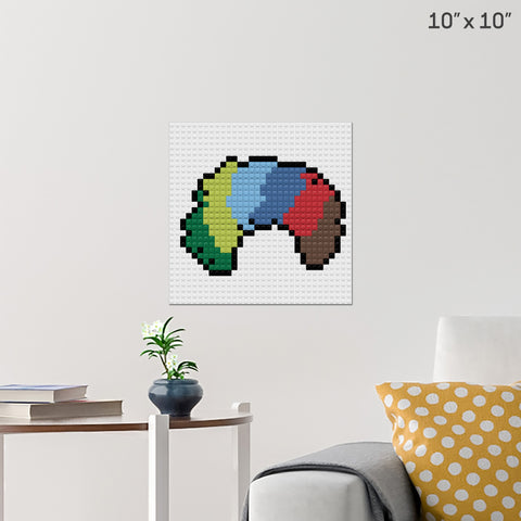 Clown Wig Brick Poster