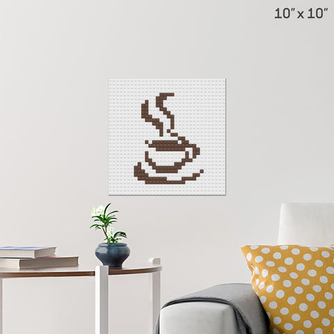 Coffee Brick Poster