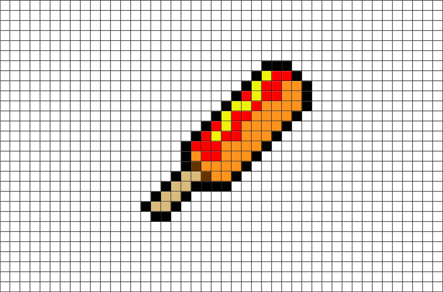Pixel Art Hot Dog
