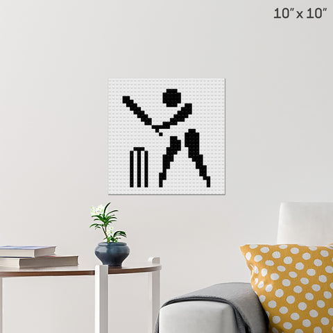 Cricket Brick Poster