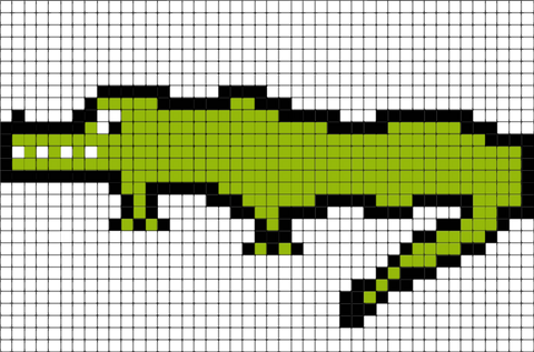 Crocodile Pixel Art