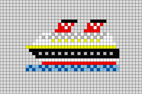 Cruise Ship Pixel Art