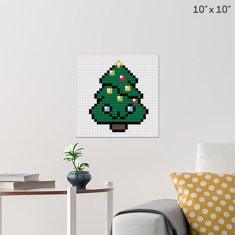 Cute Christmas Tree Brick Poster