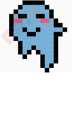 Cute Ghost Pixel Art