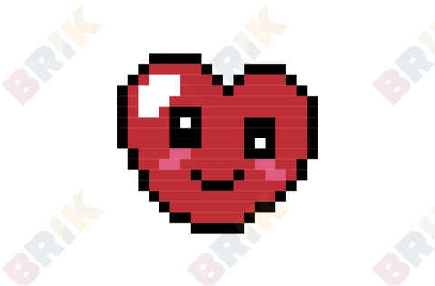 Cute Heart Pixel Art