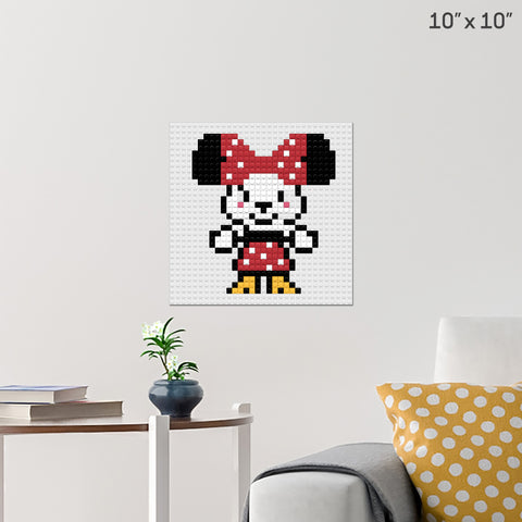 Cute Minnie Mouse Brick Poster
