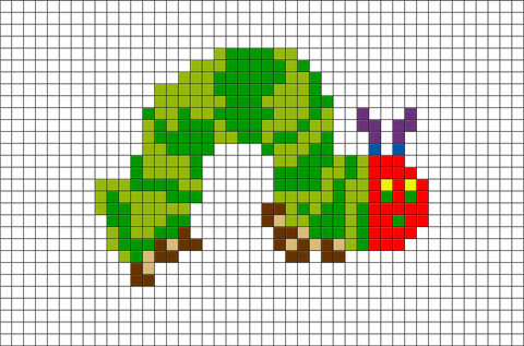 The Very Hungry Caterpillar Pixel Art