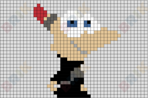 2nd Dimension Phineas Pixel Art