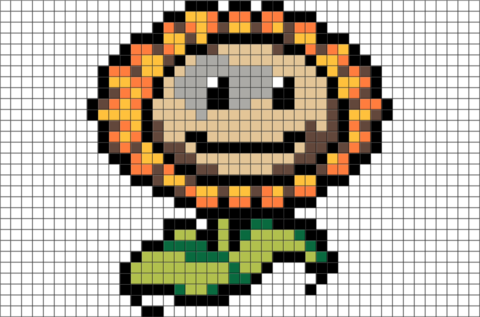 Sunflower Pixel Art