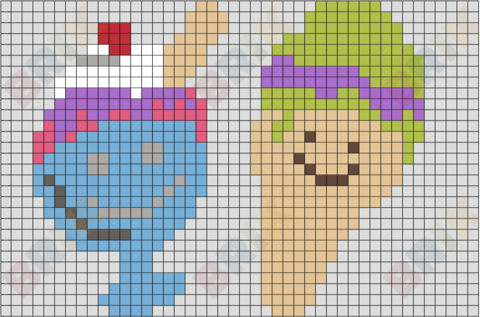 National Ice Cream Day Pixel Art