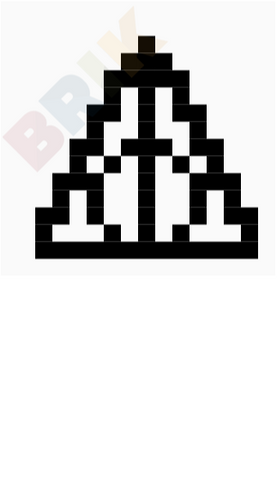 Deathly Hallows Pixel Art