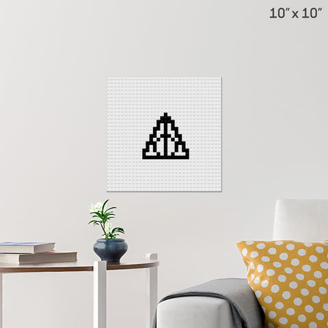 Deathly Hallows Brick Poster