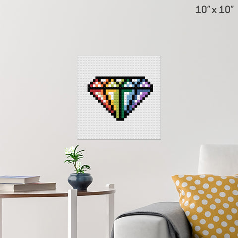 Diamond Brick Poster
