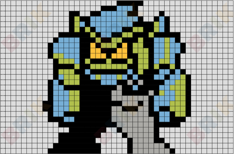 Diamondhead Pixel Art