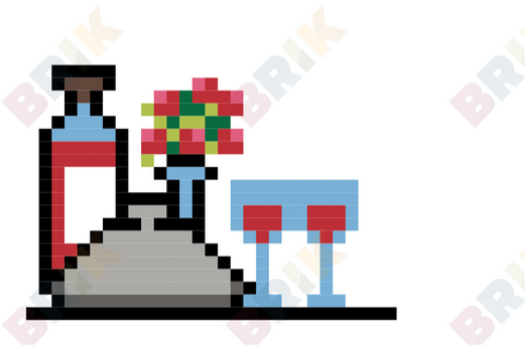 Dinner Pixel Art
