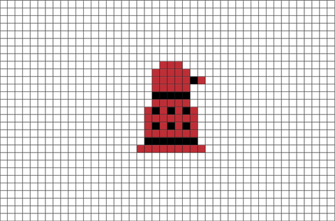 Doctor Who Dalek Pixel Art