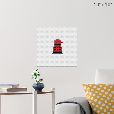 Doctor Who Dalek Brick Poster