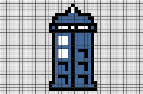 Doctor Who Tardis Pixel Art