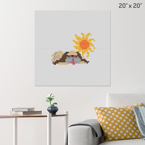 Dog Days of Summer Brick Poster