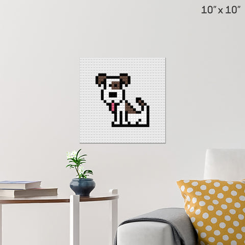 Dog Sit Brick Poster