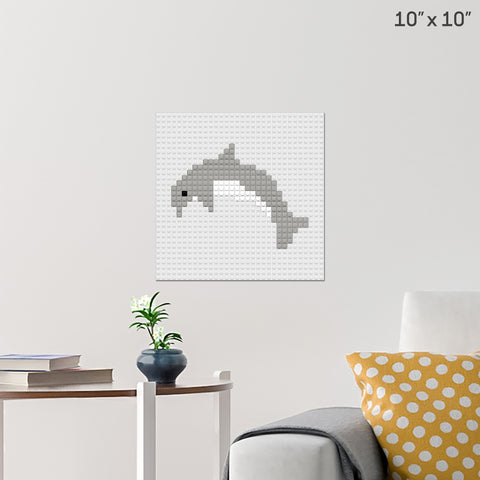 Dolphin Brick Poster