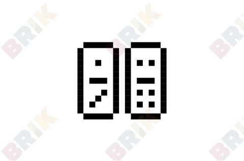 Dominoes Pixel Art