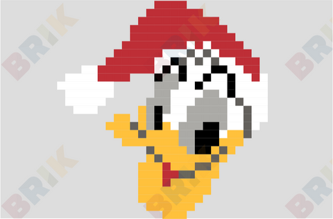 Donald Duck Pixel Art