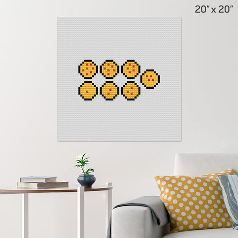Dragon Balls Brick Poster