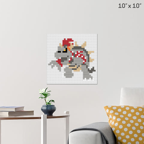 Dry Bowser Brick Poster