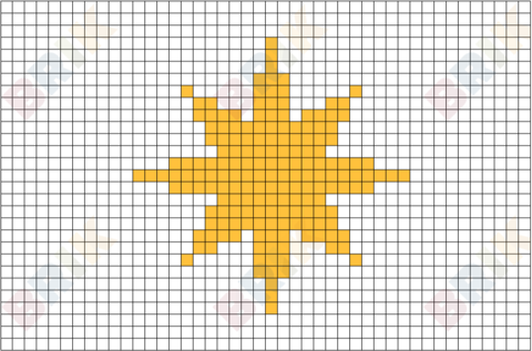 Star of Bethlehem Pixel Art