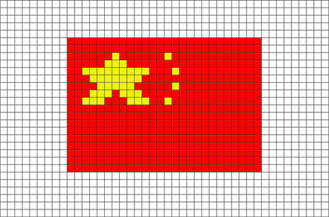 Flag of China Pixel Art