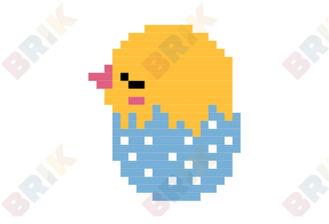 Easter Chick Pixel Art