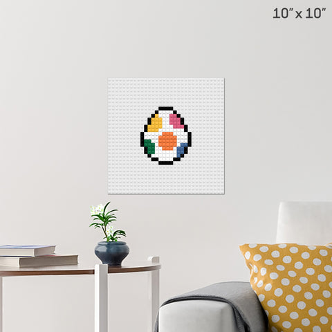 Easter Egg Brick Poster