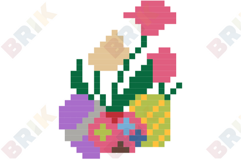 Easter Eggs Pixel Art