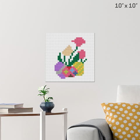 Easter Eggs Brick Poster